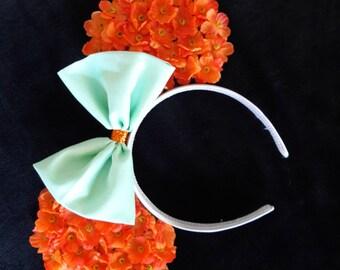 Orange and mint ears