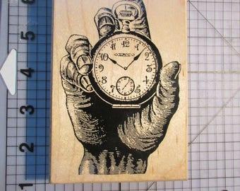Postmodern Design Watch/Hand rubberstamp