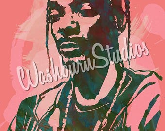 Snoop Dogg Graphic Art Print