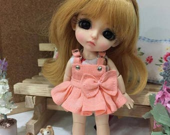 Bow Love of Overalls for lati yellow/ PukiFee bjd
