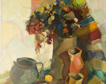 Original oil painting still life Abstract Realism modern art by artist Lozovoy