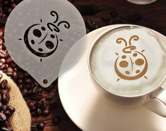 Lady Bug Coffee Stencil