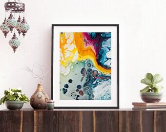 Bohemian Summer | Acrylic paint | Poster | Abstractart | Digital print |