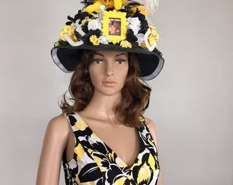Kentucky Derby Hat, Kentucky Derby outfit, horse racing hat, church hat, Breeder's Cup, Belmont Stakes, Preakness, Polo