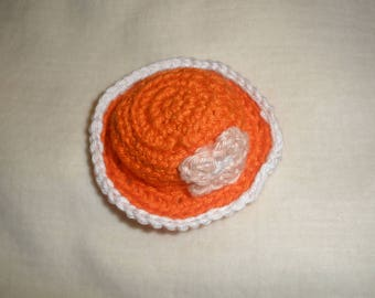 Hat miniature crochet doll