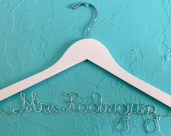 Personalized Wedding Dress Hanger Choose Name, Bride, Bridesmaid or Any Personalization You Choose