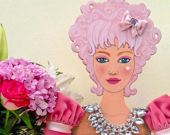 BAMBOLA PER BIJOUX  - jewerly doll - Espositore gioiello - Presentoir d'exposition pour bijoux