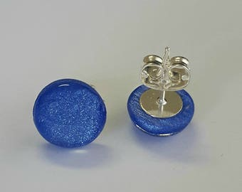 Marine Blue Pearlised Studs