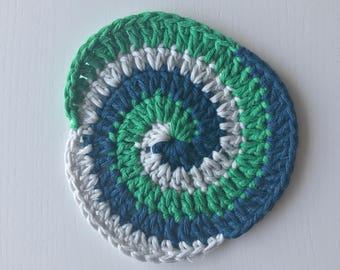 Crochet Spiral Coaster Pattern