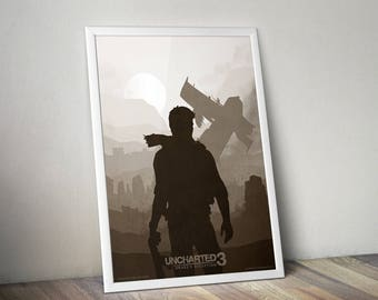 """Uncharted 3 Dreke's Deception fan art poster 13x19"""""""