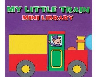 My Little Train Mini Library Children Board Books Party Bag Filler Children Educational Board Book 1956LTML