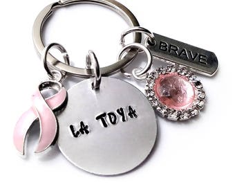 Breast Cancer Awareness Key Chain Personalized