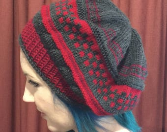 Handknitted & my own designed beret