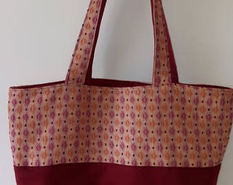 TOTE BAG handmade shopping shoulder fabric reversible