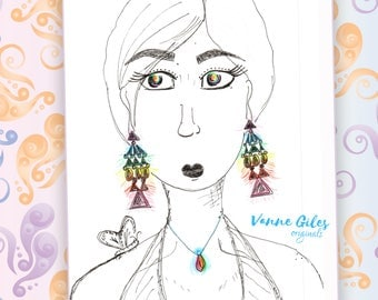 Girl with the rainbow earrings