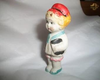 Vintage Charlotte Frozen Penny Doll 1940s Era