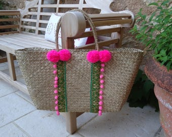 Green and pink basket