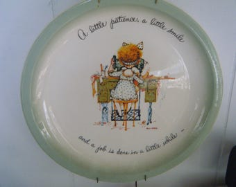 Holly Hobby at Sewing Machine collector's plate