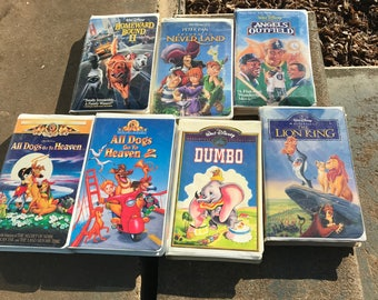 Vintage Disney vhs collection