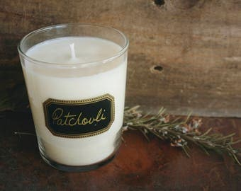 Patchouli Candle, Soy Candle, Handpoured, Container Candle