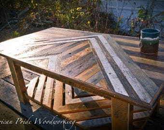 Reclaimed Lumber Coffee Table