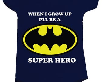 Super Hero BodySuit Onesie - available in many sizes and colours for newborns, babies and toddlers