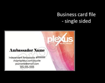 Plexus Business Card (DIGITAL file) - Single sided
