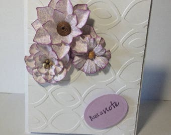 Greeting Card - Just A Note - Lavender Flowers