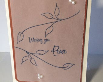Greeting Card - Wishing You Peace - Encouragement - Sympathy