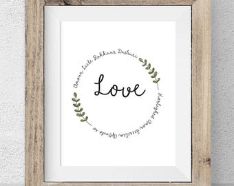 Love in Different Languages Print