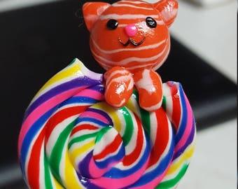 Kitty on a lollipop