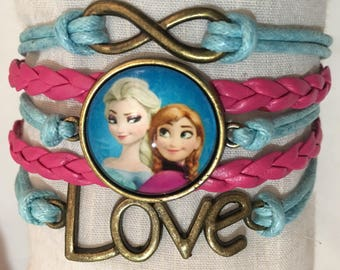 Frozen Elsa & Anna Infinity Love Bracelet