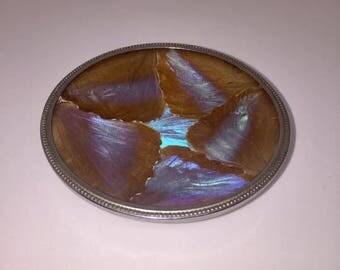 Vintage butterfly wing trinket dish