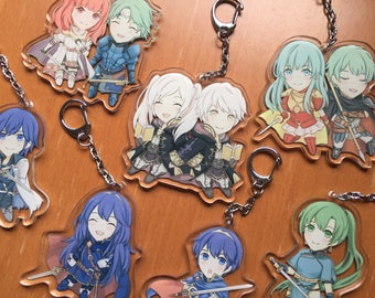 Fire Emblem Charms (7x7cm, double-sided clear acrylic) - FE Awakening, Blazing Blade, Shadow Dragon, Echoes