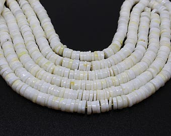 """25% OFF -Natural Yellow Opal Smooth Tyre Shape Beads,Length 16"""" Strand,Beads Size 7-7.5 mm 