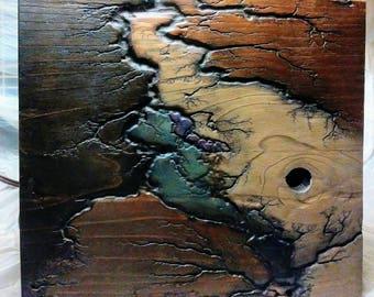 Lichtenberg technique fractal burn wood art