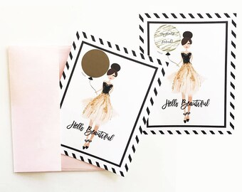 Hello Beautiful- Scratch Off Cards (set of 4)