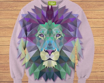 TeenMango Colorful Lion Sweater (fullprint, colorfull) free worldwide shipping