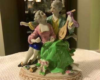 Antique Himode Kumi Signed Porcelain Figurine