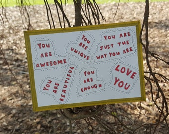 Love you | Postcard | Ink | Hand-Illustrated