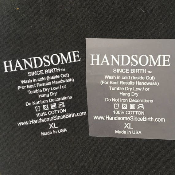 100 name heat transfer vinyl tagless labels iron on labels for Heat press shirt labels