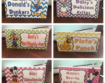 Mickey Mouse Clubhouse food labels, Mickey Mouse decorations, Mickey Mouse birthday, Minnie Mouse decorations