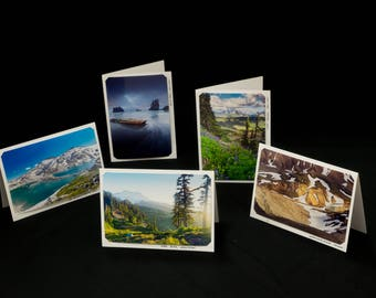 Set of Five Blank Photo Cards, Original Landscape Photography by Bobby Olsen (Landscape Pack #1)