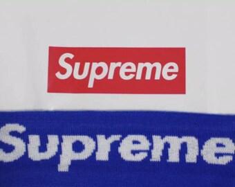 RARE Blue Supreme Headband Box Logo