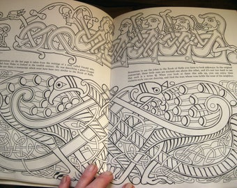 Coloring Book Ancient Ireland 1978 Celtic Collectable