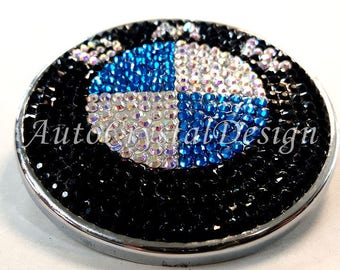 PROMO!!! BMW Classic Boot & Bonnet Badges Covered With High Quality Crystals Swarovski