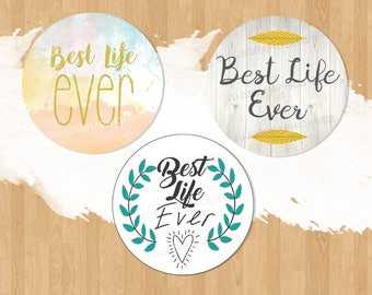 Best Life Ever Labels (pack of 24)