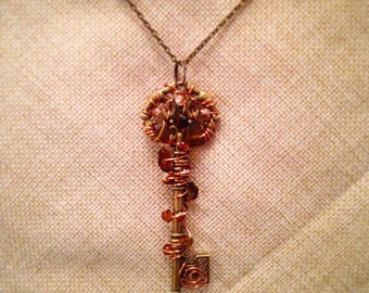 Handmade Steampunk Key Necklace