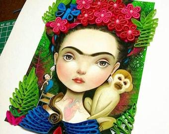 Frida Kahlo Ilustration