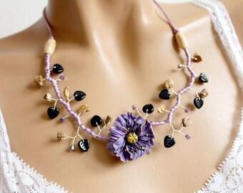 Purple porcelain poppy cold.